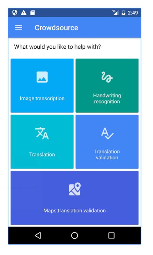 New Google app seeks help with translation and image transcription