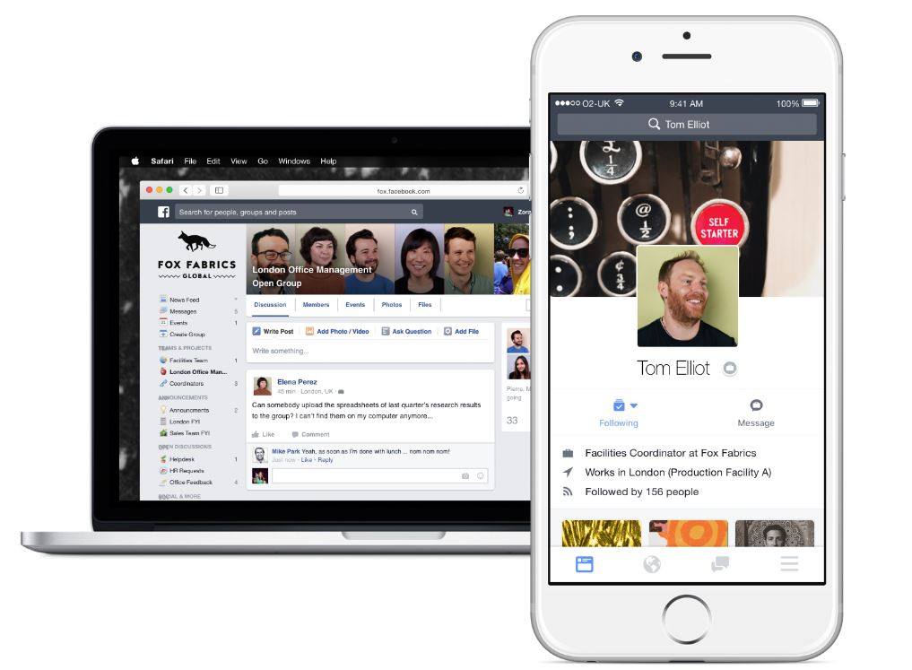Facebook's social network for business to launch in October