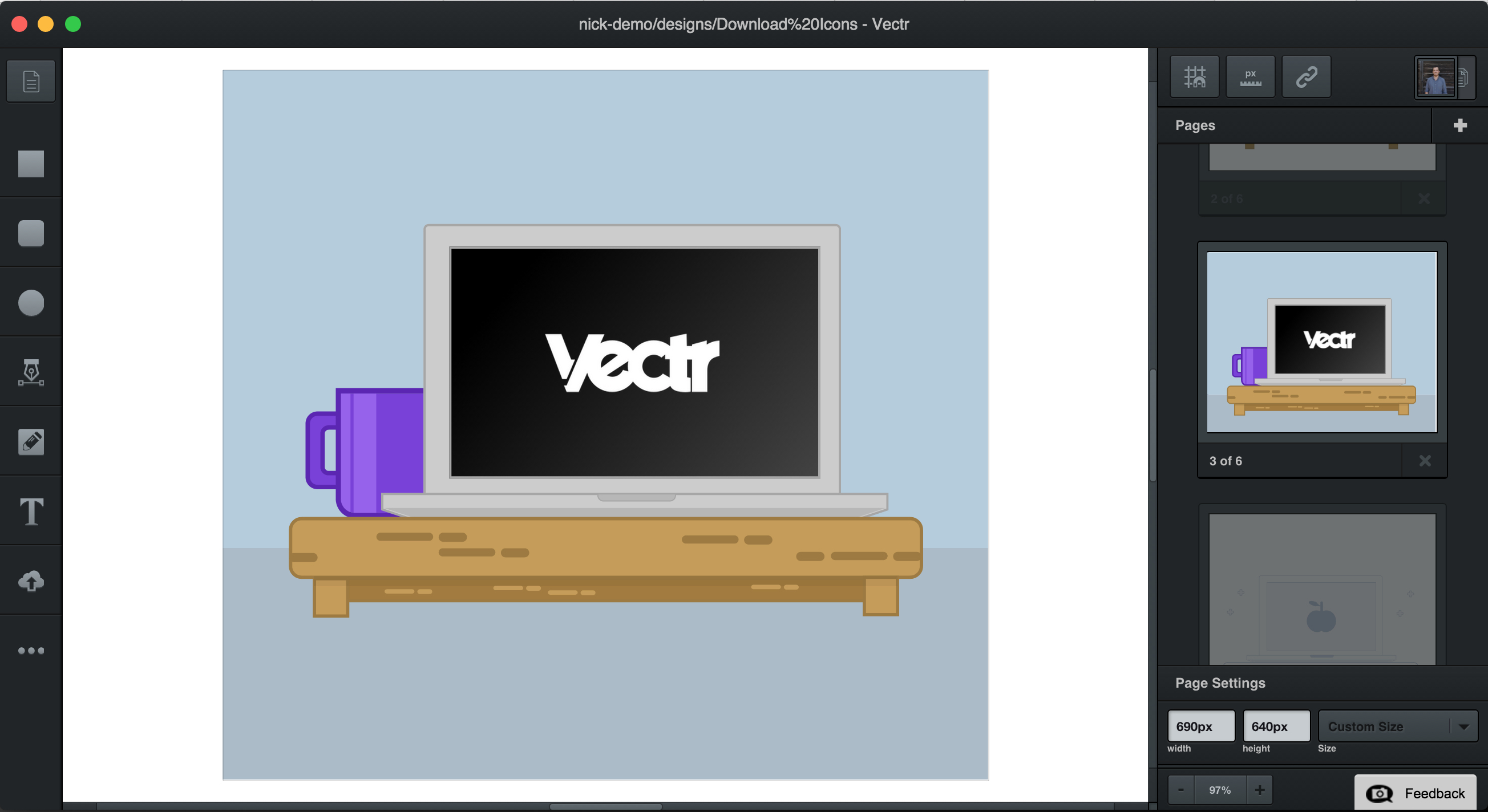 Vectr: A free web & desktop tool for creating vector graphics