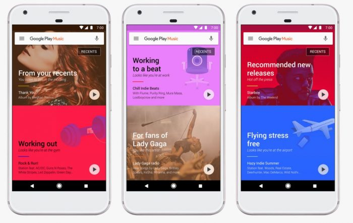 Google Play Music uses machine learning to suggest tracks