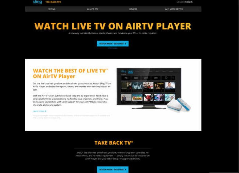 Sling TV's AirTV Player combines local channels, Netflix and