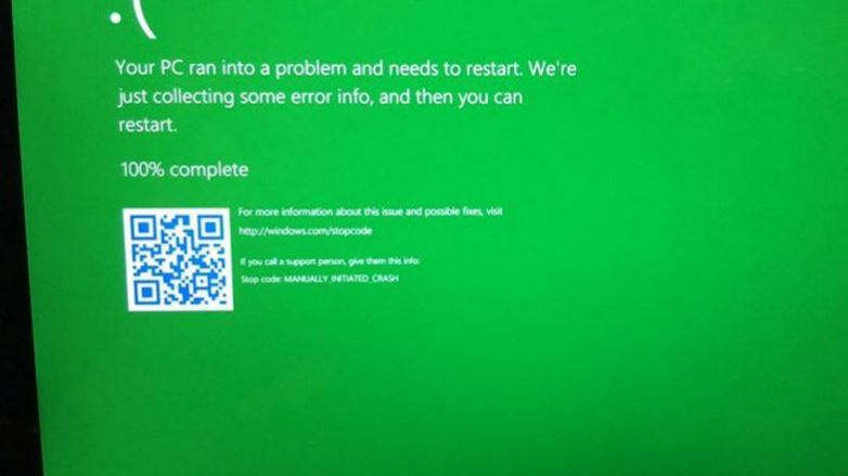 Windows 10 is getting a 'Green Screen of Death', here's why