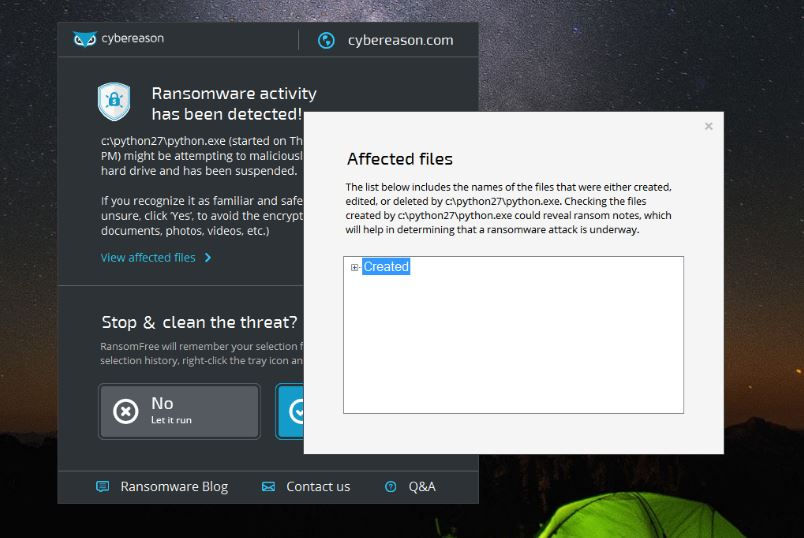 RansomFree is the last robust anti-ransomware tool of 2016