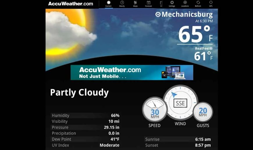 AccuWeather's new app for Android Wear 2.0 provides 6 different 'complications'