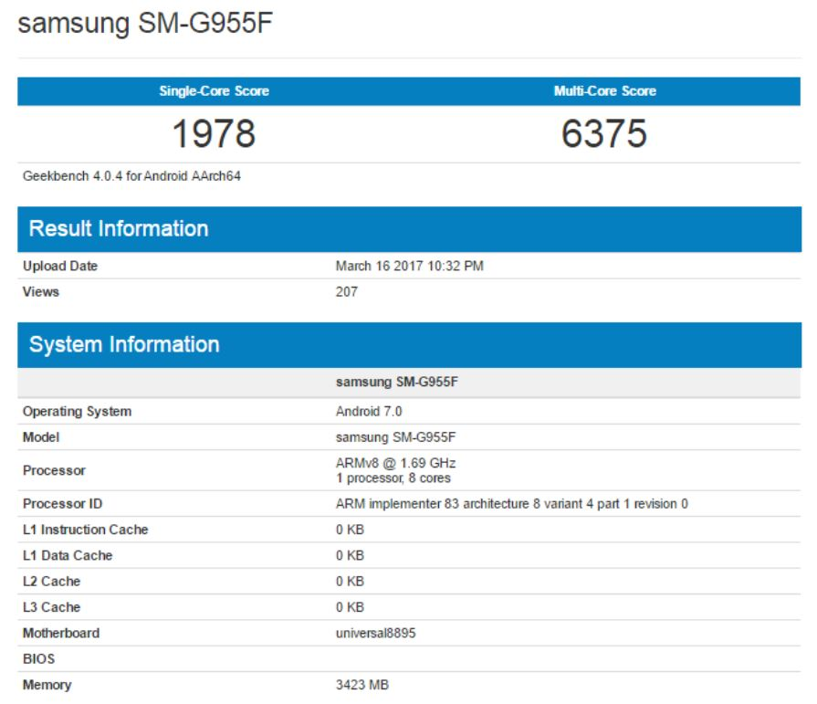 Galaxy S8 Plus surfaces again on Geekbench, this time with Exynos chip