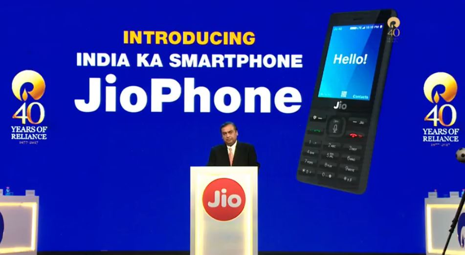 India's Reliance launches a new 4G feature phone that is virtually free